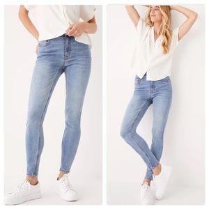 FRANK & OAK Debbie Skinny Jeans Light Wash  Women's Size 30